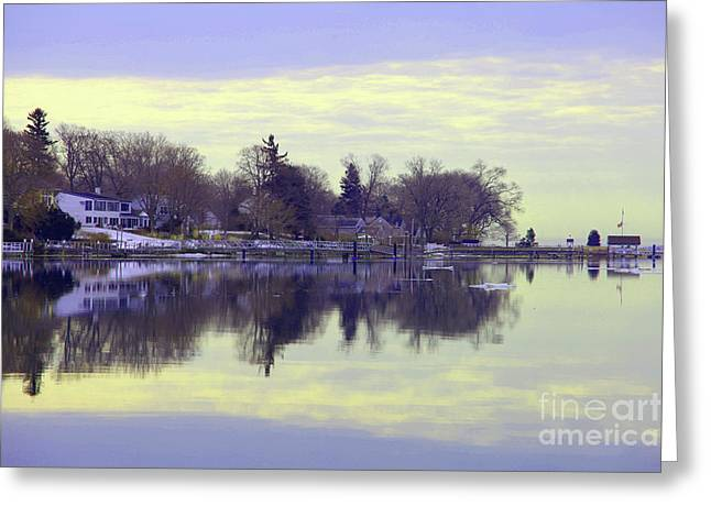 Calming Lavendar Scene Greeting Card by Karol Livote