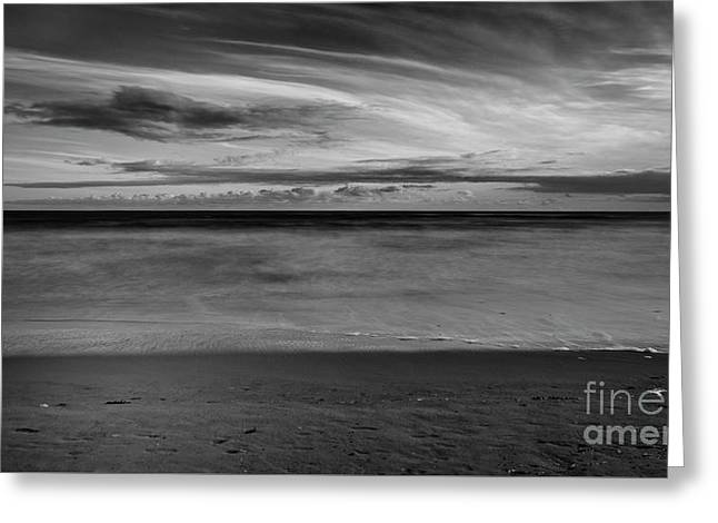 Greeting Card featuring the photograph Calming Seas by Linda Lees