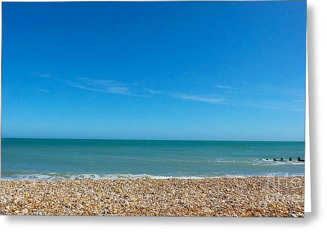 Calming Seaside View Greeting Card