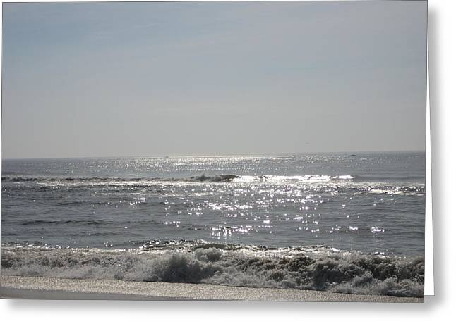 Calming Waves Greeting Card by Jennifer  Sweet