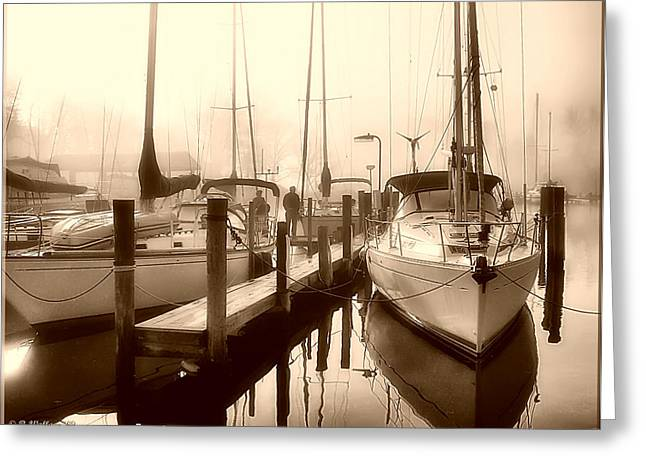Greeting Card featuring the photograph Calmly Docked by Brian Wallace