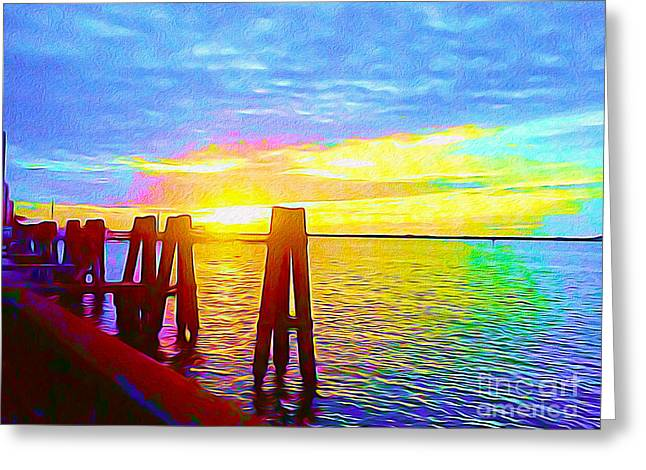 Caloosahatchee Sunset Greeting Card by Chris Andruskiewicz