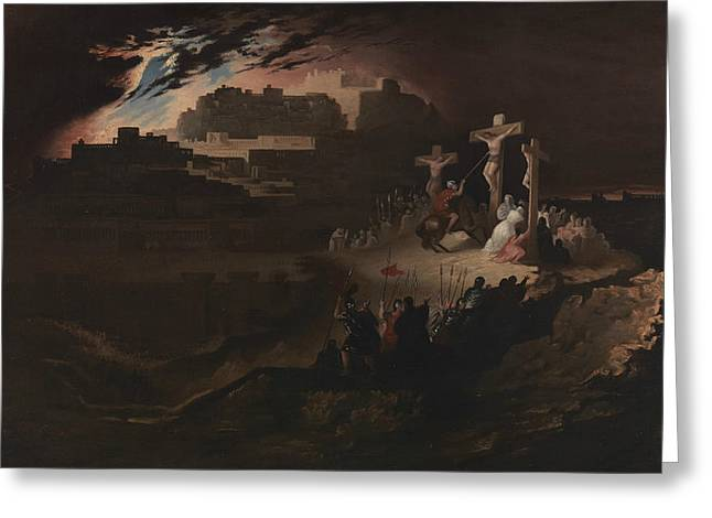Calvary Greeting Card by John Martin