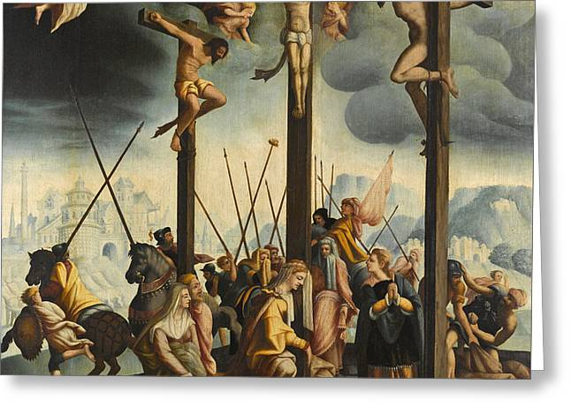Calvary With The Three Crosses Greeting Card