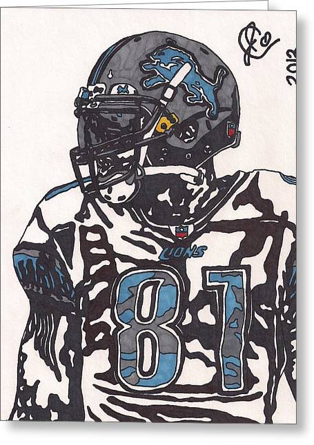 Calvin Johnson Jr 3 Greeting Card by Jeremiah Colley