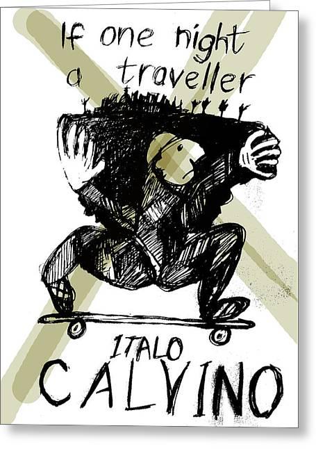 Calvino Traveller Poster  Greeting Card