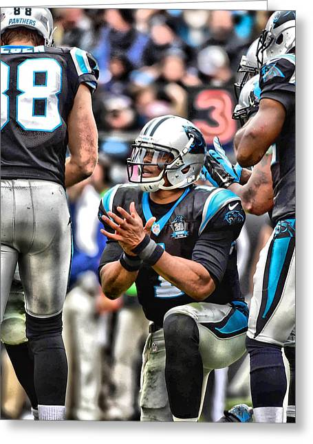 Cam Newton Art 4 Greeting Card