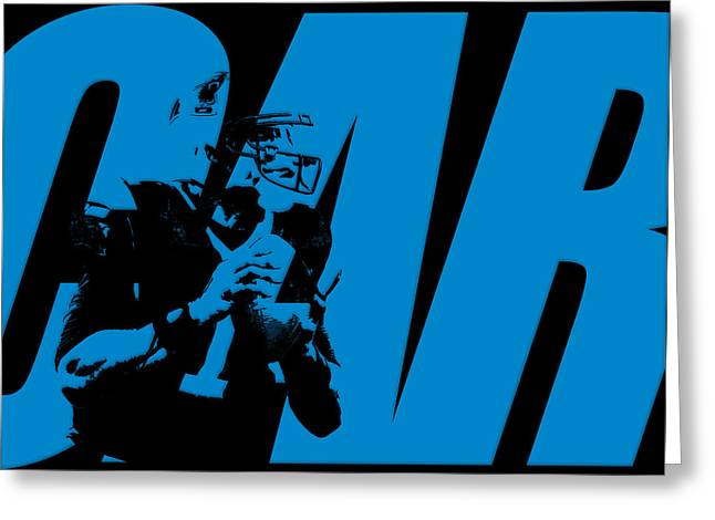 Cam Newton Carolina Panthers Greeting Card