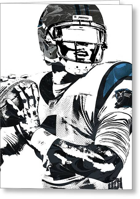 Cam Newton Carolina Panthers Pixel Art 3 Greeting Card