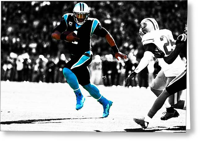 Cam Newton Out The Pocket Greeting Card