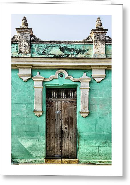 Camaguey Blue Greeting Card by Dawn Currie