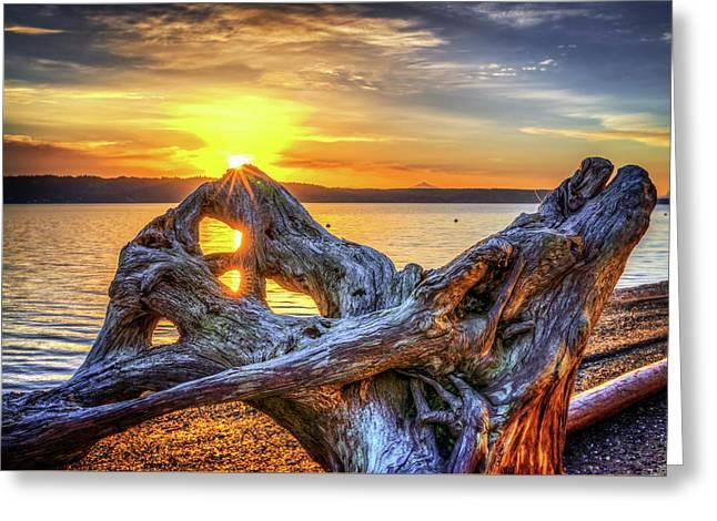 Camano Sunrise Greeting Card by Spencer McDonald