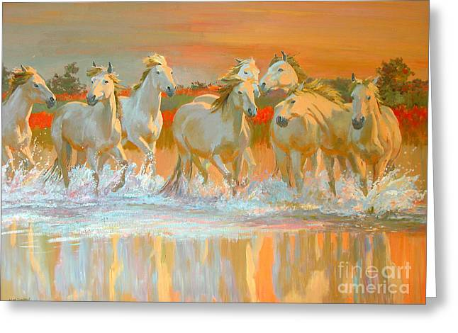 Trot Greeting Cards - Camargue  Greeting Card by William Ireland