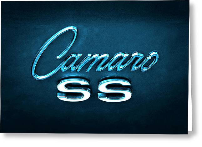 Greeting Card featuring the photograph Camaro S S Emblem by Mike McGlothlen
