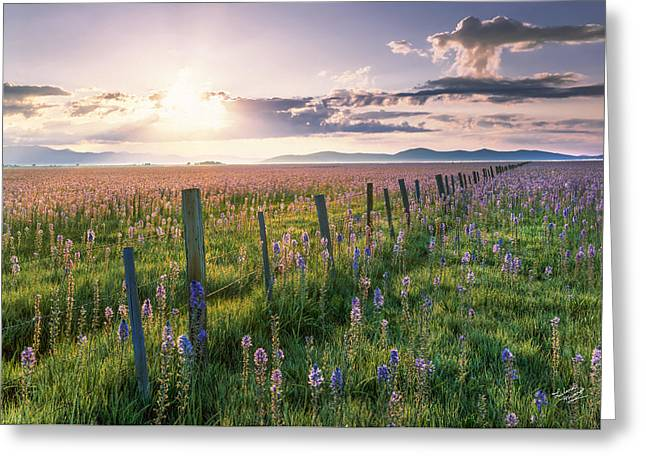 Camas Marsh 3 Greeting Card by Leland D Howard