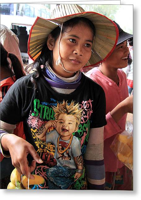 Cambodia Sales Girl Greeting Card