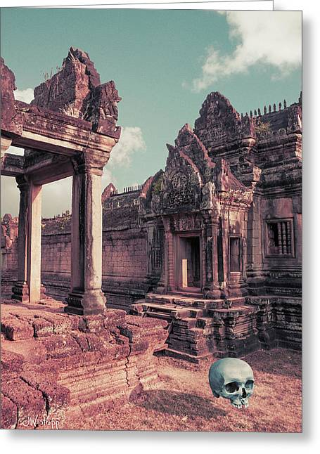 Greeting Card featuring the photograph Cambodian Blue by Joseph Westrupp