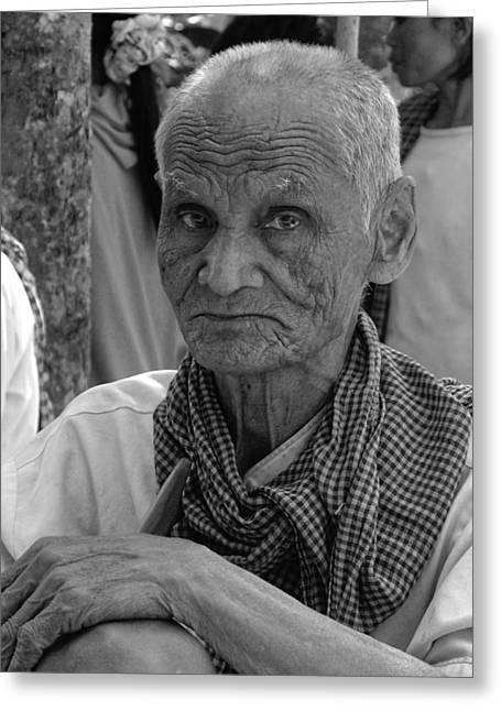 Cambodian Elder Greeting Card