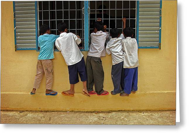 Cambodian School Children Greeting Card