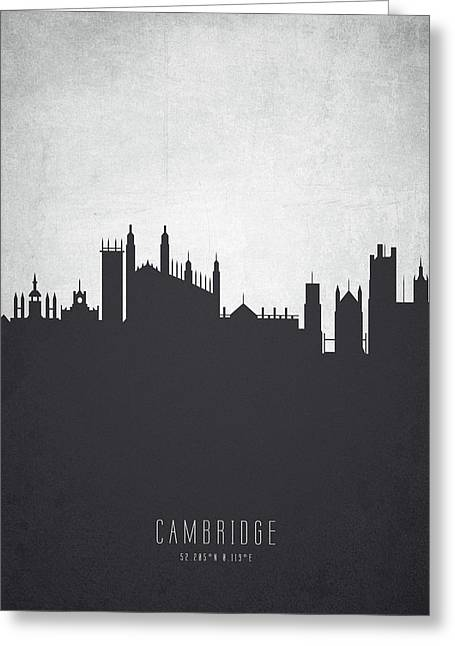 Cambridge England Cityscape 19 Greeting Card
