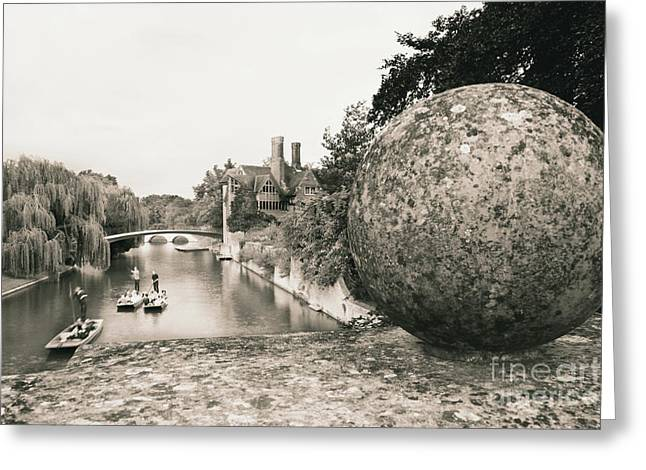 Greeting Card featuring the photograph Cambridge Punting  by Eden Baed