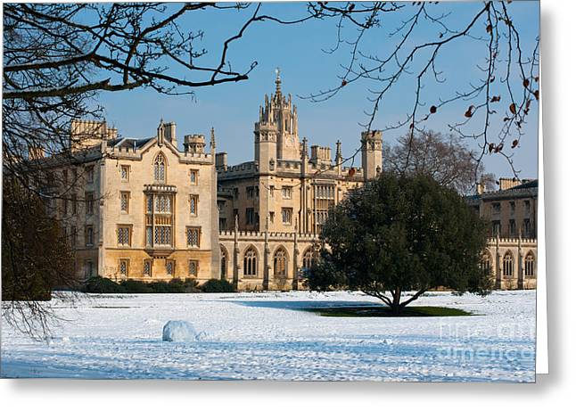 Cambridge Snowscape Greeting Card