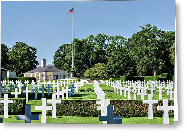 Cambridge England American Cemetery Greeting Card by Alan Toepfer