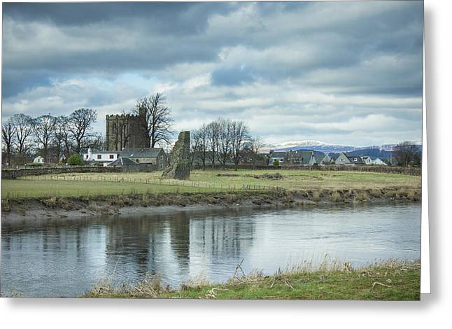 Cambuskenneth Abbey And The River Forth Greeting Card