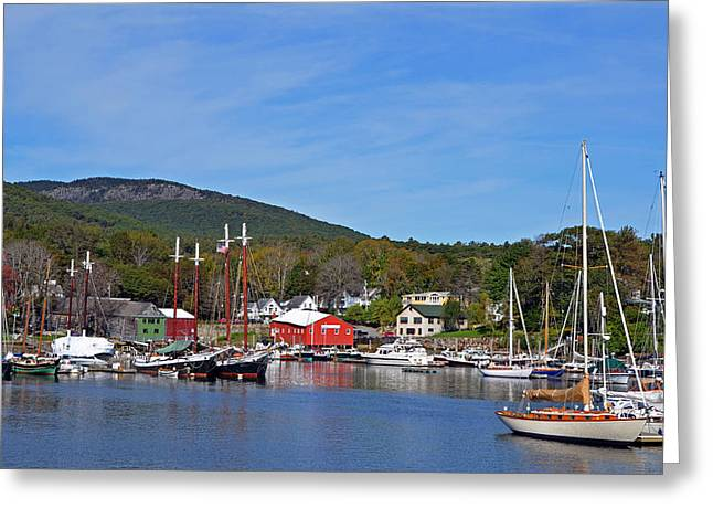Camden Harbor Greeting Card by Corinne Rhode