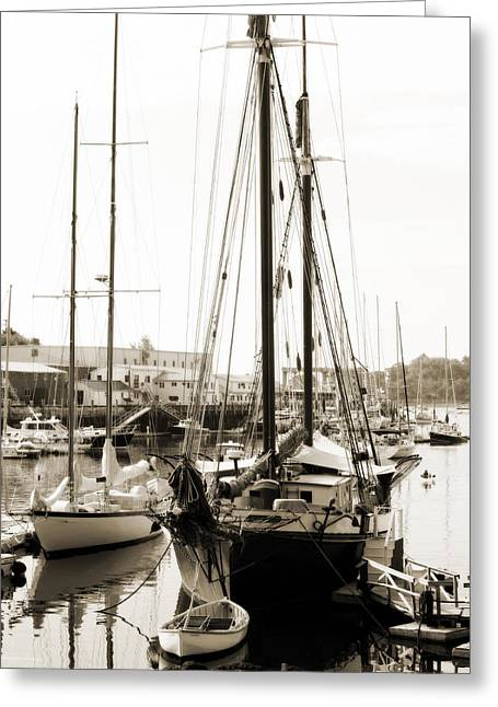 Greeting Card featuring the photograph Camden Ships by Linda Olsen