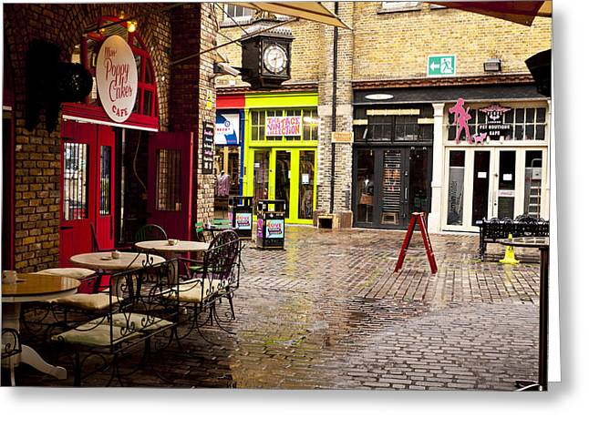 Camden Stables Market Greeting Card by Rae Tucker