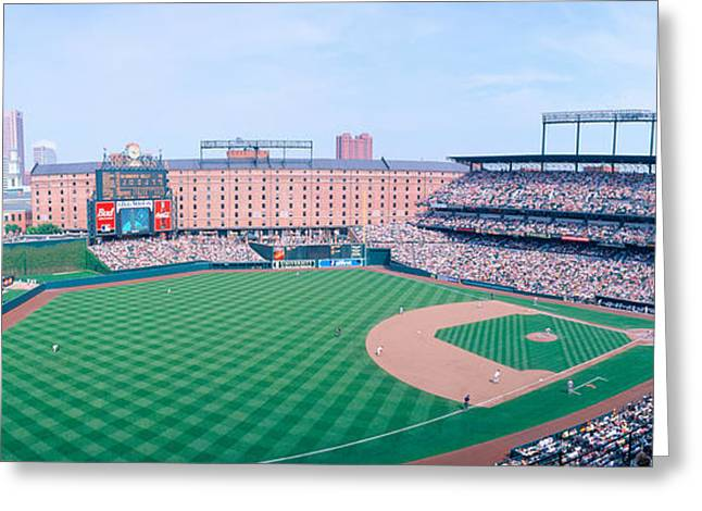 Camden Yard Stadium, Baltimore, Orioles Greeting Card by Panoramic Images