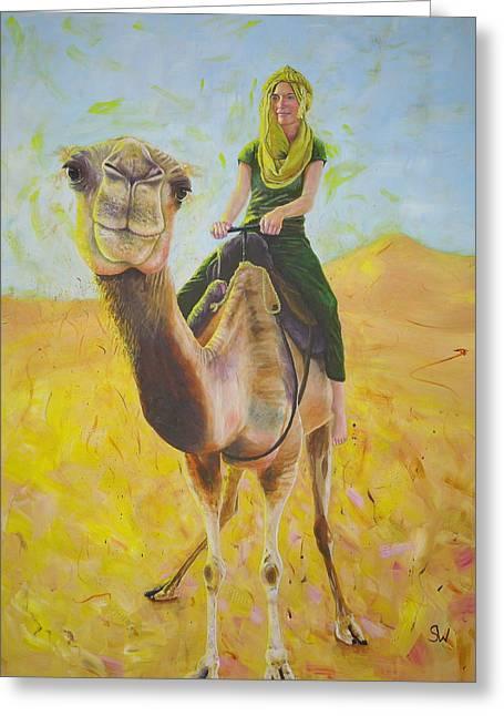 Camel At Work Greeting Card