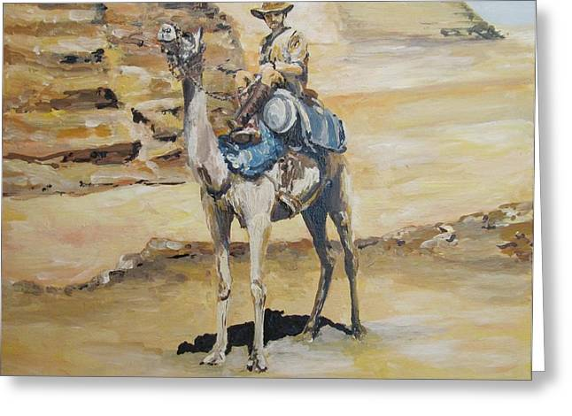 Camel Corp At Ease Greeting Card by Leonie Bell