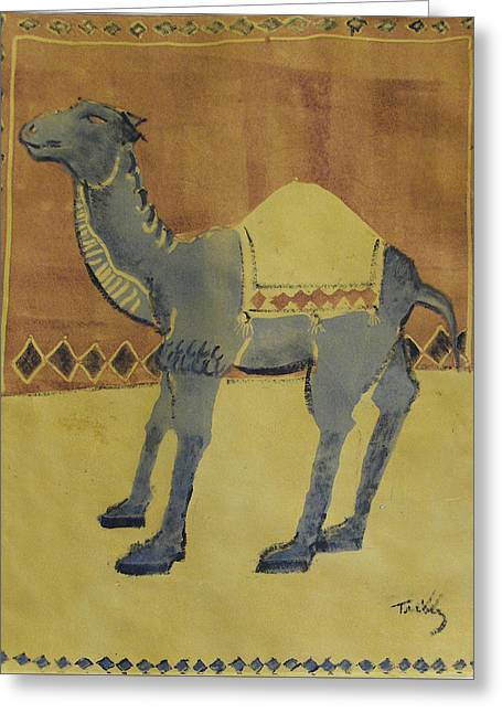 Camel With Diamonds Greeting Card