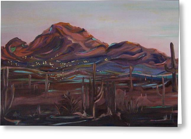 Camelback Mountain Greeting Card by Julie Todd-Cundiff