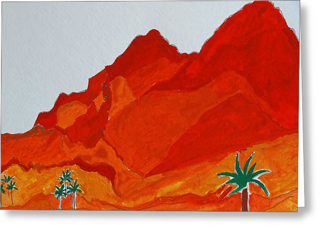 Camelback Mountain  Greeting Card by Nicholas Vitale