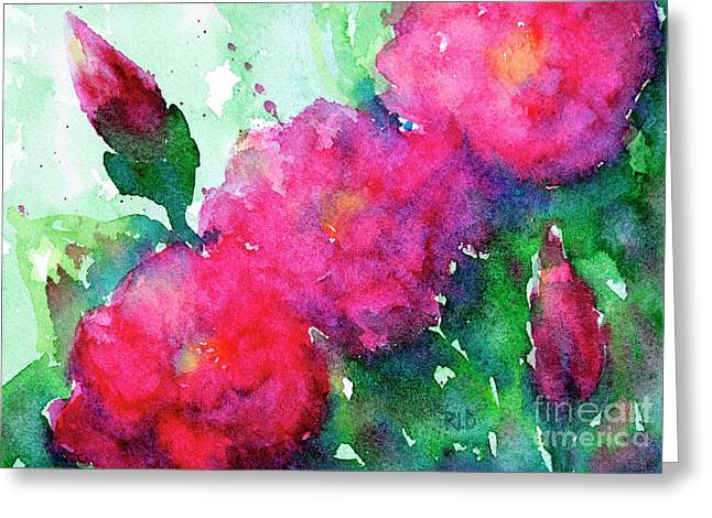 Camellia Abstract Greeting Card