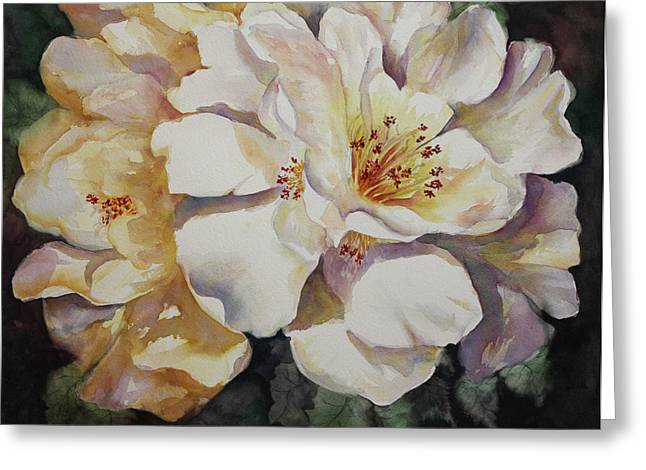 Camellias Golden Glow Greeting Card