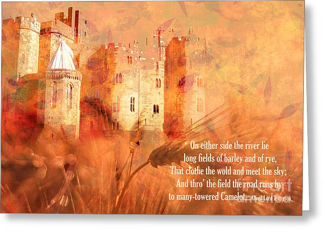 Greeting Card featuring the digital art Camelot 2017 by Kathryn Strick