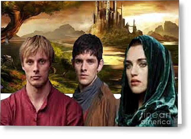 Camelot Greeting Card by Rod Jellison