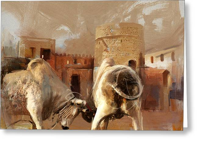 Camels And Desert 22 Greeting Card by Mahnoor Shah