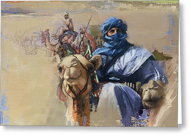 Camels And Desert 4 Greeting Card