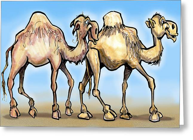 Camels Greeting Card by Kevin Middleton