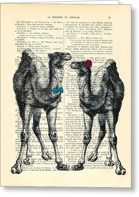Camels Married Couple Greeting Card