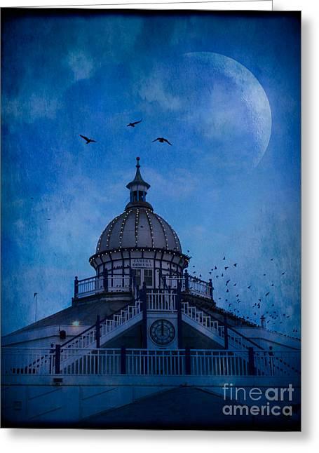 Camera Obscura - Eastbourne Pier Greeting Card by Ann Garrett