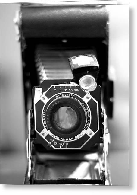 Camera Still Life 2 Greeting Card by John Gusky