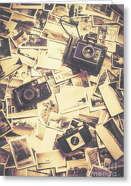 Cameras On A Visual Storyboard Greeting Card