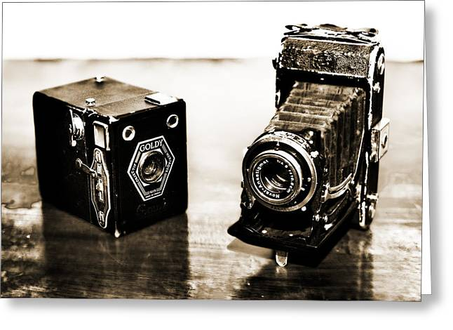 Cameras Greeting Card by Thomas Kessler