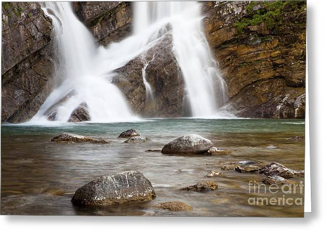 Cameron Falls In Waterton Lakes National Park Greeting Card
